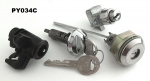 1973-1974 Chrysler Duster Glove Console & Trunk Lock Kit