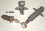 1970-1972 Ford Thunderbird Glove Console Trunk Lock Set NOS